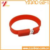Nonperishable жара сопротивляет выдвиженческому USB Wristband силикона