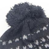Winter-Quast-Hüte, strickender Wolle-Hut, Qualität strickten Hut mit Kugel-Oberseite für Frauen