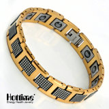 Bio- braccialetto magnetico dell'acciaio di tungsteno di modo per gli uomini con Ce