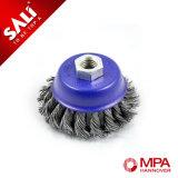 Escova de moedura da escova do copo do fio de aço da porca da alta qualidade M14*2 para a oxidação de remoção industrial da máquina