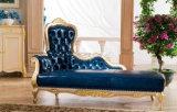 Annata classica del sofà di Chesterfield della mobilia reale del salone con il sofà del cuoio genuino