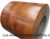 Bobines d'acier de couleur de PPGI/PPGL/Wooden/configuration en bois PPGI