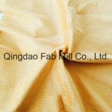 Tessuto organico del velluto a coste del cotone di 6 Galles 100% (QF16-2676)