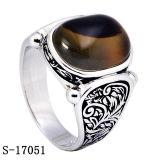 Nieuwe Aankomst van de Ringen van de Mensen van de Steen van de fabriek de In het groot 925 Zilveren Natuurlijke