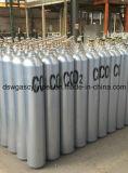 cilindro de gás do nitrogênio do CO2 do argônio do oxigênio do acetileno do aço 50L sem emenda