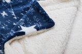 2017極度の柔らかさ100%年のポリエステルはSherpaの羊毛の投球の/Babyの毛布青い星を印刷した