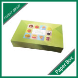 Rectángulo de empaquetado del buñuelo del papel de categoría alimenticia