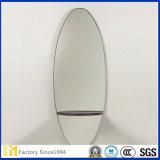 2mm - 6mm Silber-überzogener Floatglas-ovaler Spiegel mit Polierrand für Badezimmer-Spiegel oder dekorative Wand-Spiegel