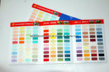Carte personnalisée colorée de couleur de système de peinture