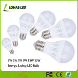 De ahorro de energía de plástico Bulbo de LED 3W 5W 7W 9W 12W 15W 18W LED Bulbo de luz con Ce RoHS China Manufacturer