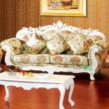 Hölzernes Gewebe-Sofa für Hauptmöbel (D929H)