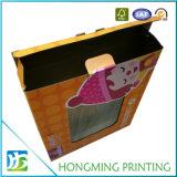 Caixa de empacotamento desobstruída de dobramento do PVC do cartão do costume