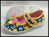 Los últimos zapatos de la danza de los zapatos de lona de la inyección de los niños del diseño (HH411-1)