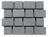 Cubi grigi del granito dei marciapiedi fare un passo del giardino