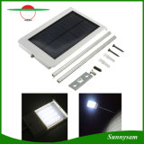 Luz de rua solar ao ar livre do sensor de movimento da potência solar PIR do diodo emissor de luz da lâmpada de parede 24 da segurança da luz do jardim da luz do ponto de iluminação