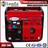 générateur diesel à faible bruit silencieux semi fermé Genset de 5kw 6.5kVA