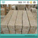 Gelbes rostiges, nebelhaftes Gelb, Granit G682 für Pflasterung-Stein, Bordstein, Cubestone