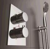 壁に取り付けられたサーモスタットのシャワーのコック