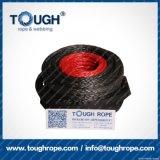 La corda sintetica dell'argano del nero 8mmx30m UHMWPE ha impostato per l'argano 4X4