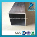 Profil en aluminium anodisé d'extrusion de tube de grand dos de rectangle avec personnalisé classé