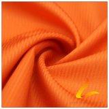 agua de 50d 340t y de la ropa de deportes tela tejida chaqueta al aire libre Viento-Resistente 100% de la pongis del poliester del telar jacquar del satén abajo (53073A)