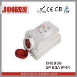 Soquete industrial de IP44 5p 63A com interruptores e bloqueio mecânico