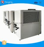 Sistema mais frio de refrigeração ar refrigerar de água da máquina de embalagem da película de estiramento