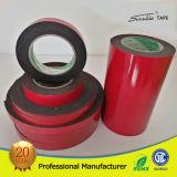 Bande rouge de mousse de PE de noir de faisceau de papier de film