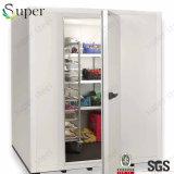 저가를 가진 냉장고 냉각기 상자에 있는 도보