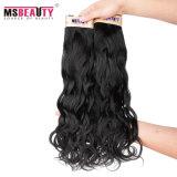 Extensão peruana preta natural não processada do cabelo do Virgin de 100% melhor
