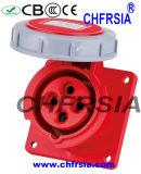 4p montados el panel 16A impermeabilizan el socket industrial (recto)