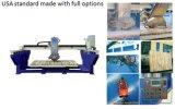 Máquina de mármore automática de Saw&Cutting da ponte da pedra do granito do laser com inclinação de 45 lâminas