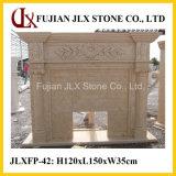 Chaminé de pedra do estilo clássico de mármore bege de Egipto