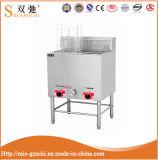 Werbungs-freie stehende Gas-Bratpfanne des China-Lieferanten-28L für Verkauf