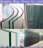 3mm-19mm плоское/согнули Toughened стекло, Tempered стекло с сертификатом CCC /Ce/ISO/SGS