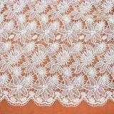 L20010方法ミルクの服の作成のための絹によって刺繍されるレースのFatoryの価格のレースファブリック