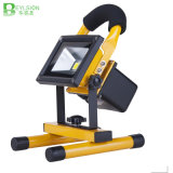 lámpara recargable portable del reflector de 10W IP66 LED LED
