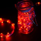 Red Fairy Lights LED String Light Waterproof 3 AA Battery Operated 6 FT in Length outdoor Use