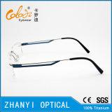 Het lichtgewicht Randloze Frame van de Glazen van Eyewear van het Oogglas van het Titanium Optische met Scharnier (5002) - C