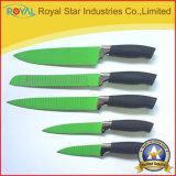 цветастый комплект ножа кухни 5PCS с пластичной ручкой (RYST094C)