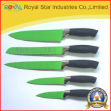 5PCS roestvrij staal Colorful Plastic Handle Kitchen Knife (RYST094C)