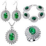Ювелирные изделия способа PCS ожерелья 4 чокеровщика браслета серьги кольца покрынного кристалла медистого серебра установленные