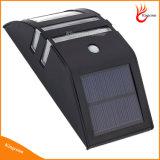 Waterproof a lâmpada de parede solar de 2 luzes solares do jardim do sensor de movimento da luz PIR da parede do diodo emissor de luz do diodo emissor de luz com a lâmpada solar do aço inoxidável