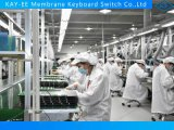 Stampa strutturata di grande interruttore delle tastiere di membrana di formato con il comitato di alluminio curvo