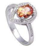 Ring 925 van CZ van de Juwelen van de manier Echte Zilveren Juwelen