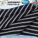 Striped weiches Indigo 30s Jersey gestricktes Gewebe für T-Shirts