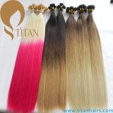 T-Farben-brasilianische Haar Ombre vor geklebte Keratin-Haar-Extension