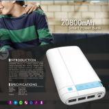 Côté mobile 20800mAh de pouvoir de batterie externe avec le jeu de DEL Digital