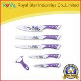6 ножей кухни нержавеющей стали PCS установленных с картиной