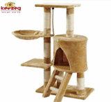 Albero di Scratcher&Cat del gatto spostato sisal naturale con i punti (KG0041)